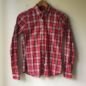 2ea001a895d Steven Alan Red Plaid Button Up Shirt